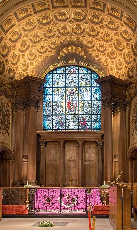 Inércia da igreja do St Alfege na paróquia de Greenwich foto de stock