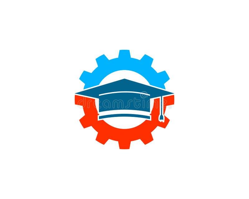 Inżynier edukacji logo projekta element royalty ilustracja