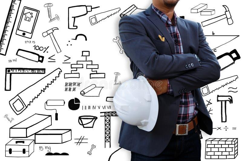 Inżynier i ikona obraz stock