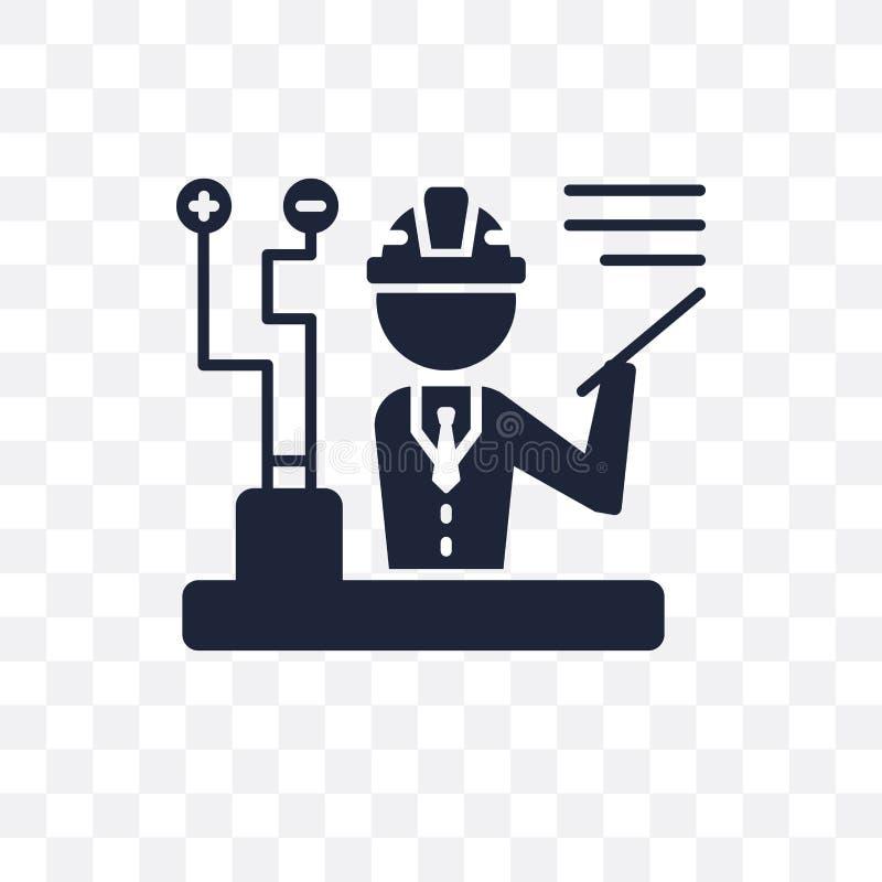 Inżynier przejrzysta ikona Inżyniera symbolu projekt od Professio ilustracja wektor