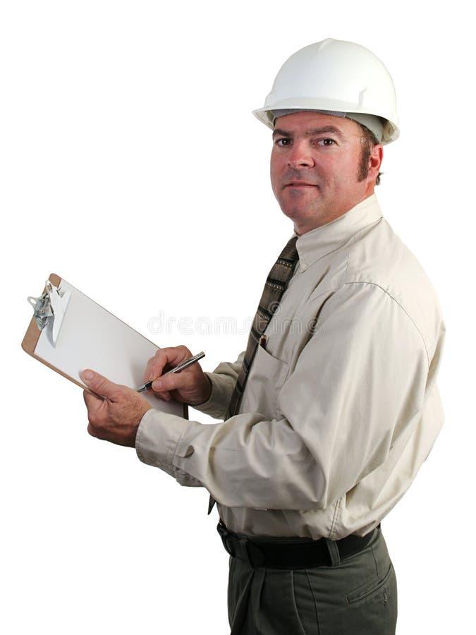 inżynier wziąć notatek. zdjęcie royalty free