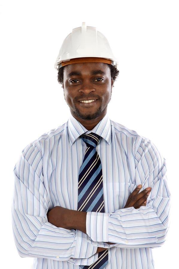 inżynier zdjęcia przystojny uśmiecha się obrazy stock
