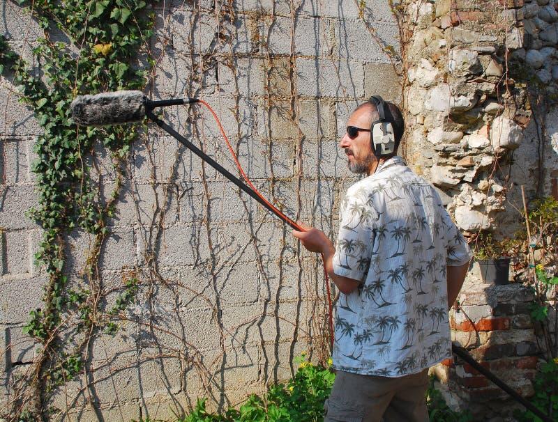 inżyniera mikrofonu flinty dźwięk obrazy stock