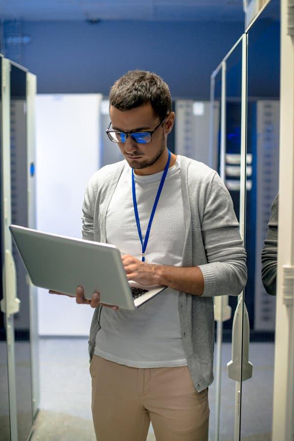 Inżyniera superkomputeru Dyrekcyjna sieć fotografia stock