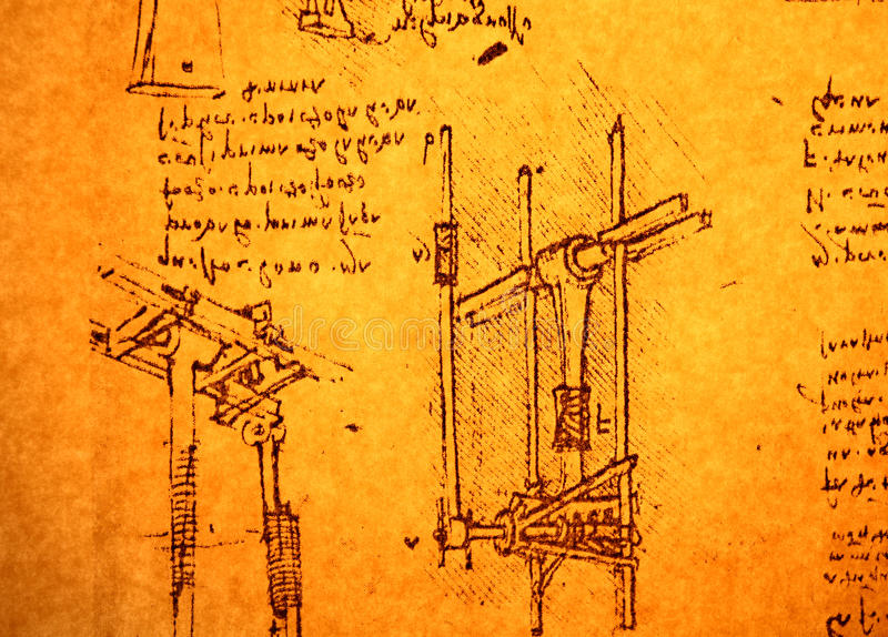 Inżynieria rysunek obrazy stock