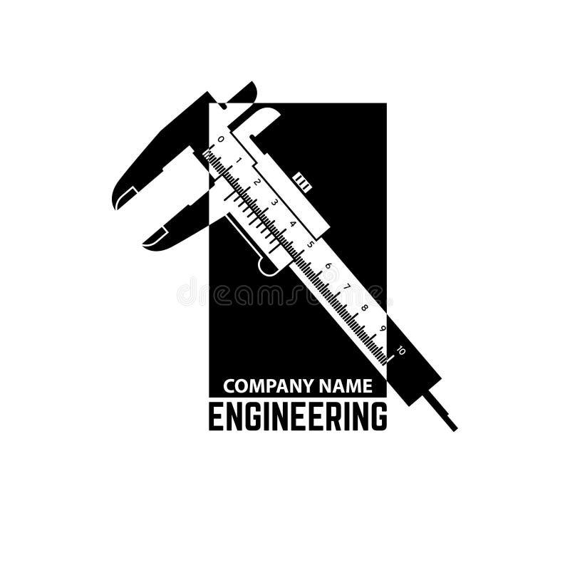 Inżynierii Firma loga szablon ilustracja wektor