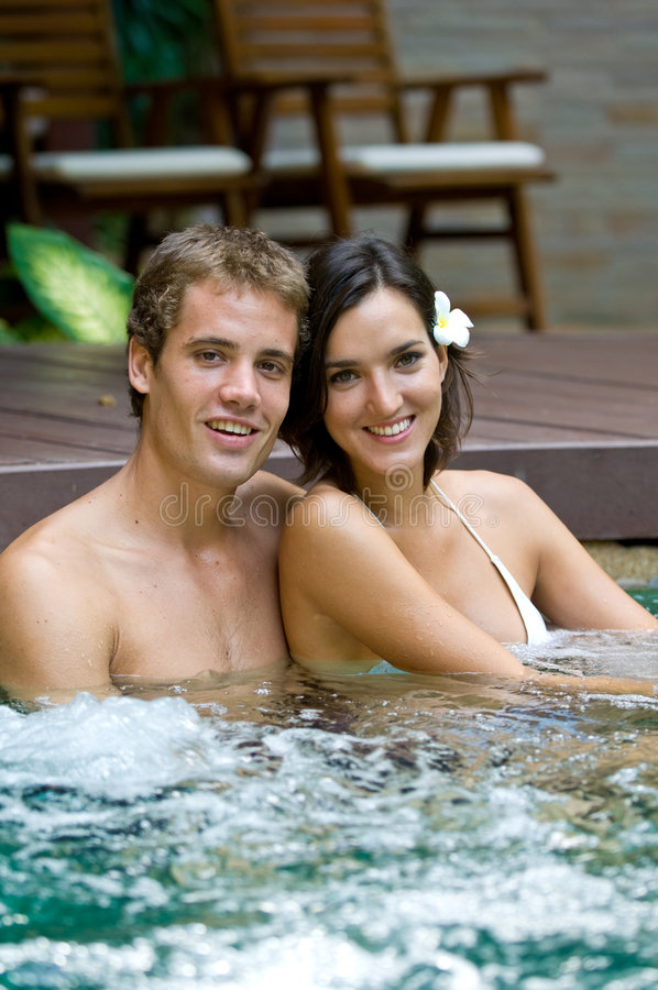 Free In Jacuzzi Stock Photography - 4581742
