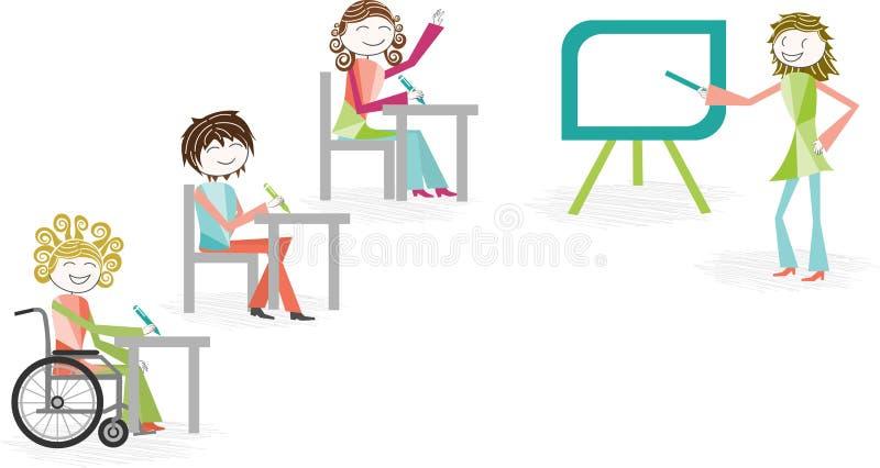 Inabilidade e trabalho ilustração stock