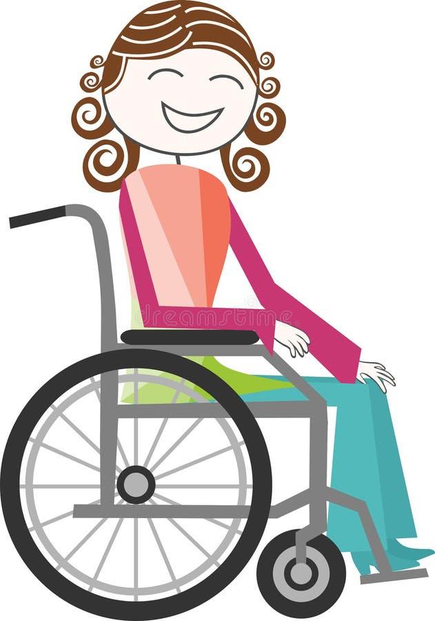 Inabilidade na cadeira de rodas ilustração royalty free