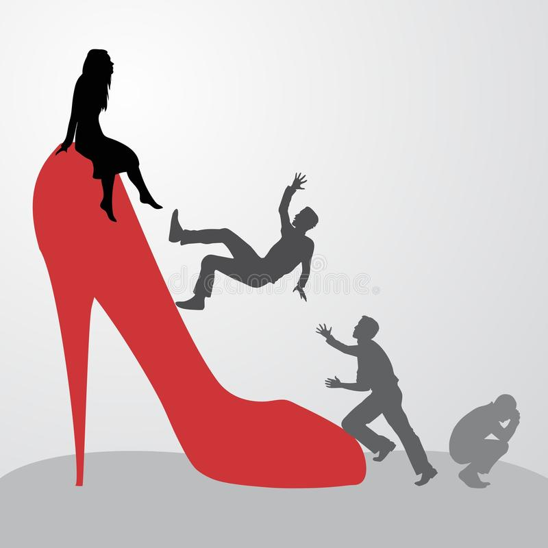Inaccessible woman. royalty free illustration
