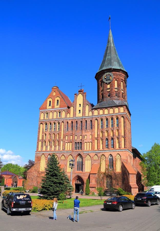 Inactieve Konigsberg-Kathedraal stock foto's