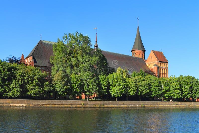 Inactieve Konigsberg-Kathedraal stock foto