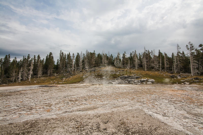 Inactive Grand Geyser. Landscape of the inactive Grand Geyser located in the Old Faithful area of Yellowstone National Park, Wyoming stock images