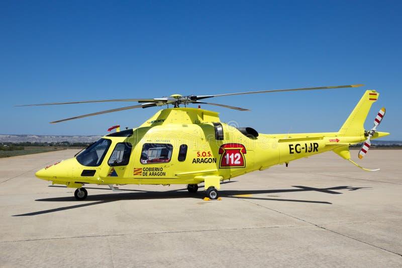 Inaer Agusta A109 władzy resque helikopter zdjęcie stock