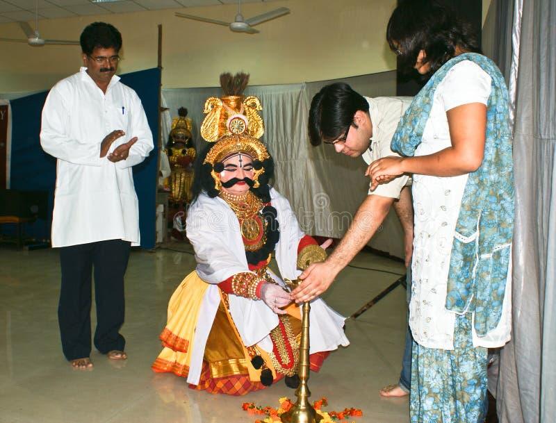 Inaguration of Yakshagana,folk dance of Karnataka. stock photo