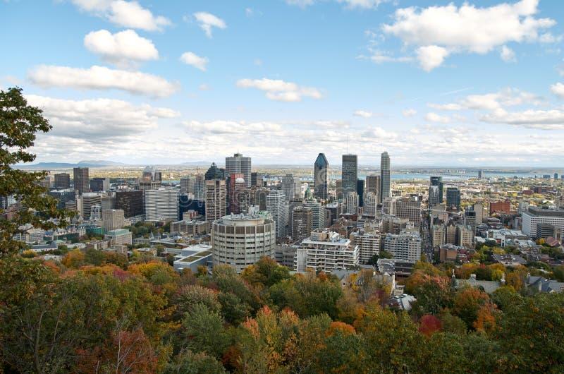 Inaktiv tid Montreal i nedgången royaltyfria bilder