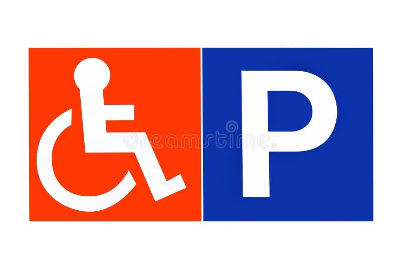 inaktiverad parkering stock illustrationer