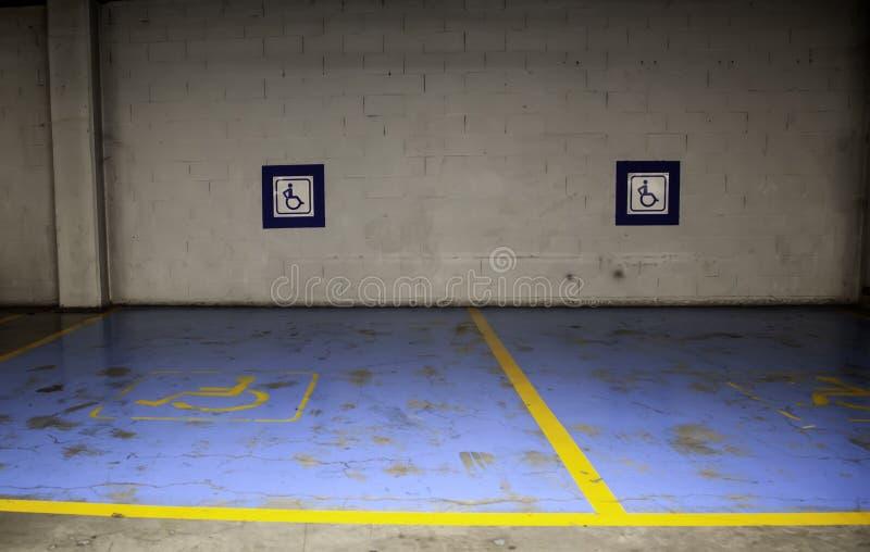 inaktiverad parkering royaltyfri bild