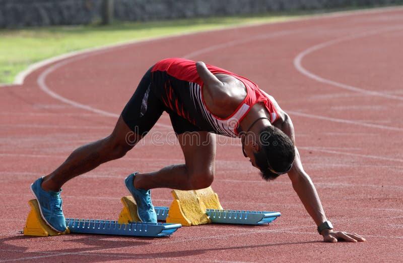 inaktiverade idrottsman nenar royaltyfri foto
