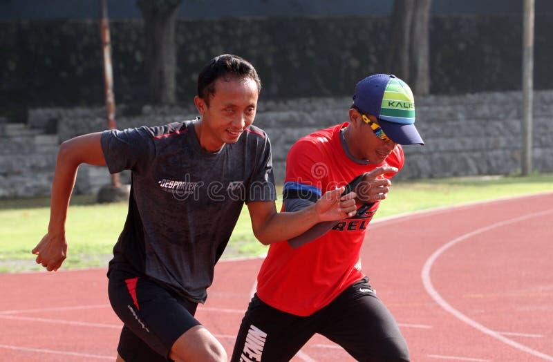 inaktiverade idrottsman nenar royaltyfri fotografi