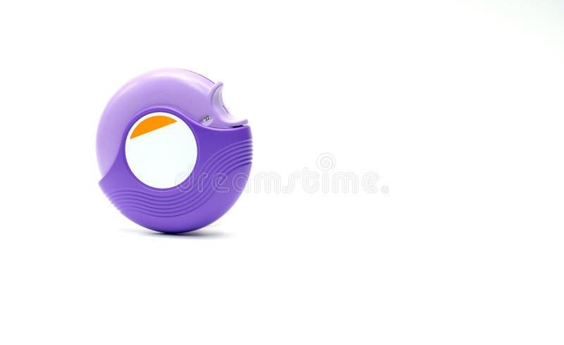 Inalador para a asma do tratamento, controlador da asma, accuhaler, esteroides imagem de stock royalty free