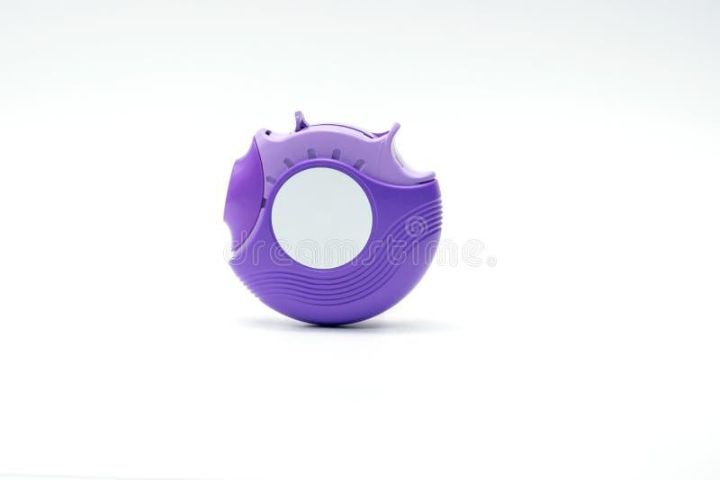 Inalador para a asma do tratamento, controlador da asma, accuhaler, esteroides fotos de stock royalty free