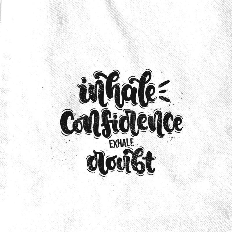 Inale a confiança expiram a dúvida ilustração stock