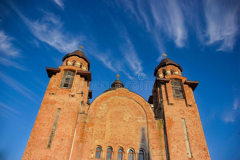 Inaltarea Domnului Lord`s Ascension church in the neighbourhood of Mehala in Timisoara. Romania stock photography