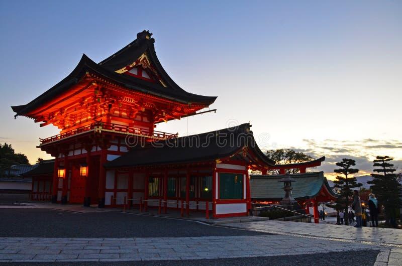 Inariheiligdom van Kyoto stock fotografie