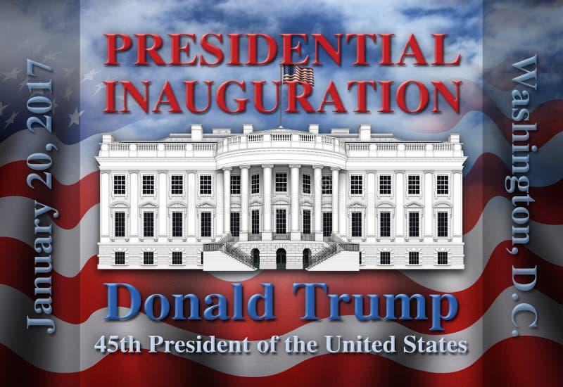 Inauguração presidencial do Estados Unidos ilustração stock