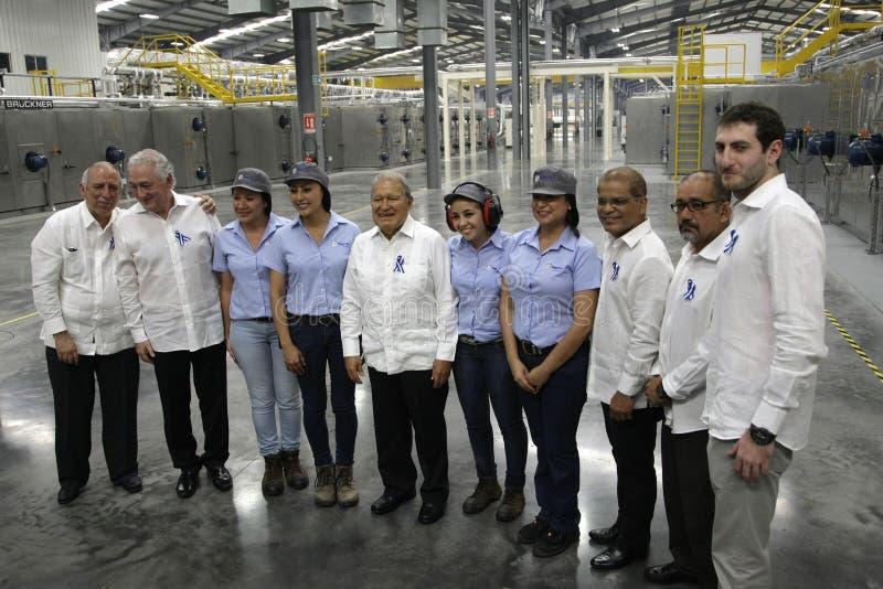 Inauguración de operaciones en El Salvador de la empresa transnacional OPP Film royalty-vrije stock afbeeldingen