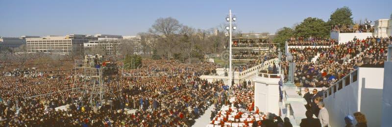 Inauguración de presidente Guillermo J Clinton foto de archivo libre de regalías