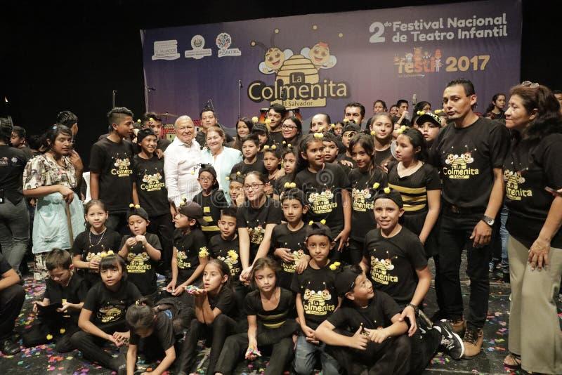 Inauguración de segundo Festival Nacional de Teatro Infantil royalty free stock image
