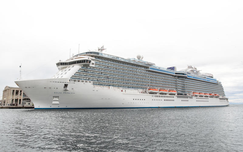Inauguration of the cruise ship Regal Princess royalty free stock photos