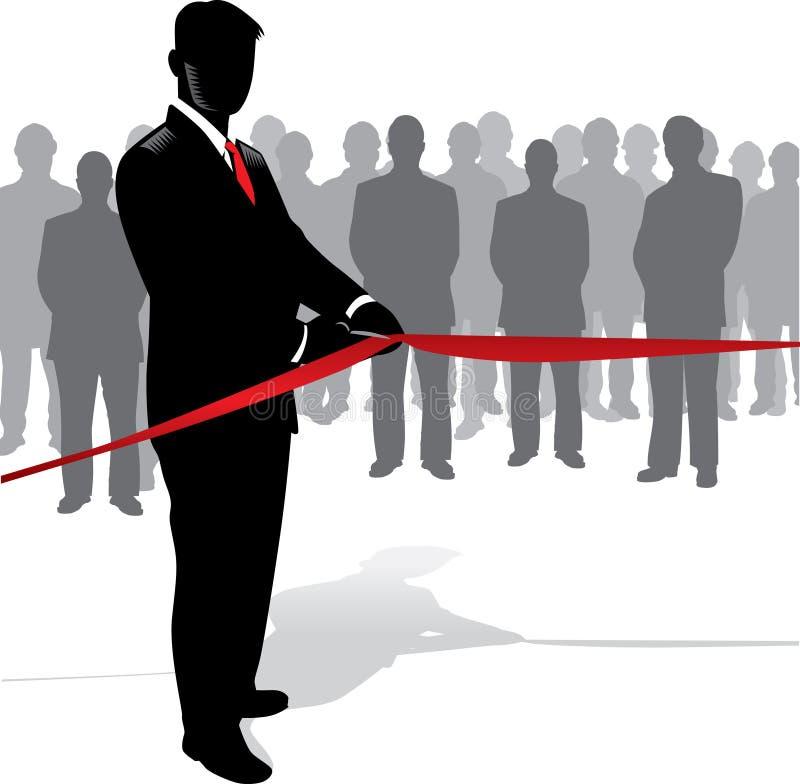 Inauguration d'homme d'affaires illustration libre de droits