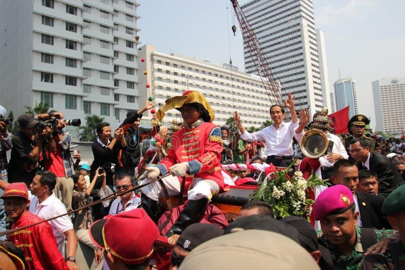 Inaugurazione del presidente e del vicepresidente dell'Indonesia Joko Widodo e di Jusuf Kalla fotografia stock libera da diritti