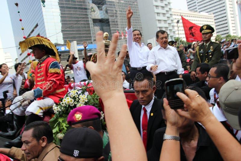 Inaugurazione del presidente e del vicepresidente dell'Indonesia Joko Widodo e di Jusuf Kalla immagini stock libere da diritti