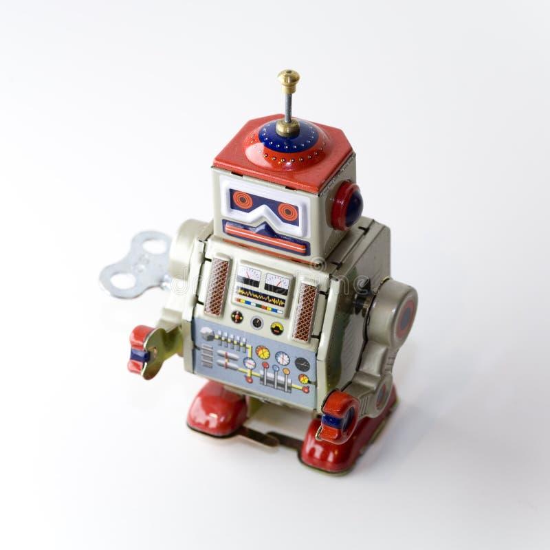 Inbare uurwerkstuk speelgoed robot royalty-vrije stock afbeeldingen
