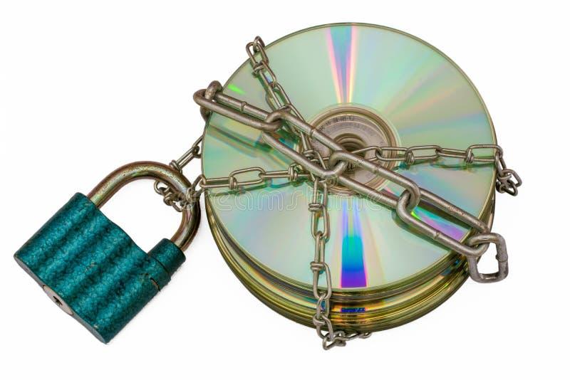 Inbegrepen schijf als teken van privacy stock afbeeldingen