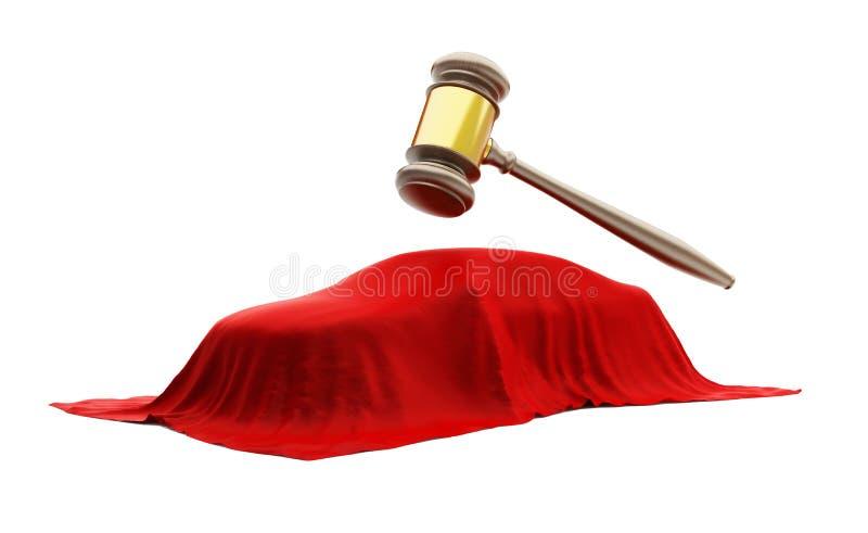 Inbeslagneming van het voertuig voor het besluit van het hof royalty-vrije illustratie