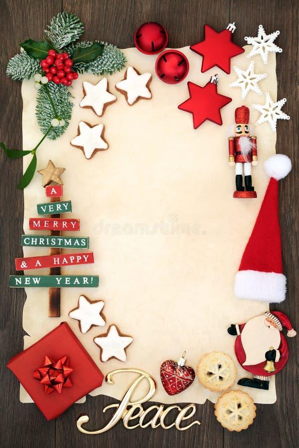 Inbjudan för julparti royaltyfri fotografi