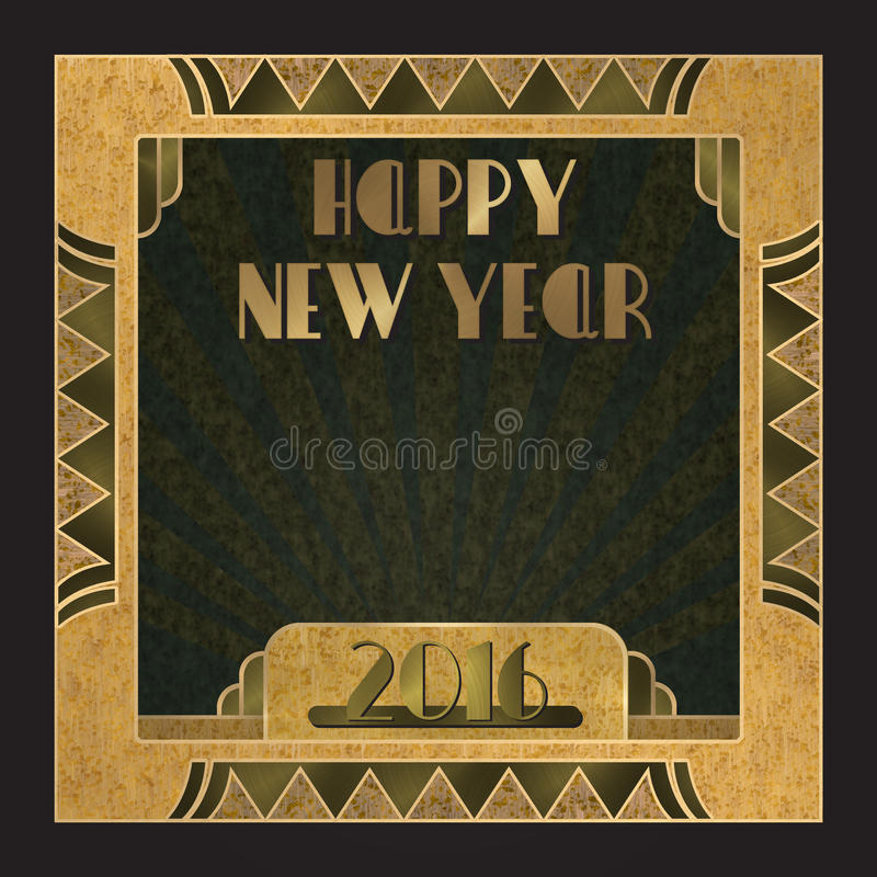 inbjudan 2016 för nytt år royaltyfri illustrationer
