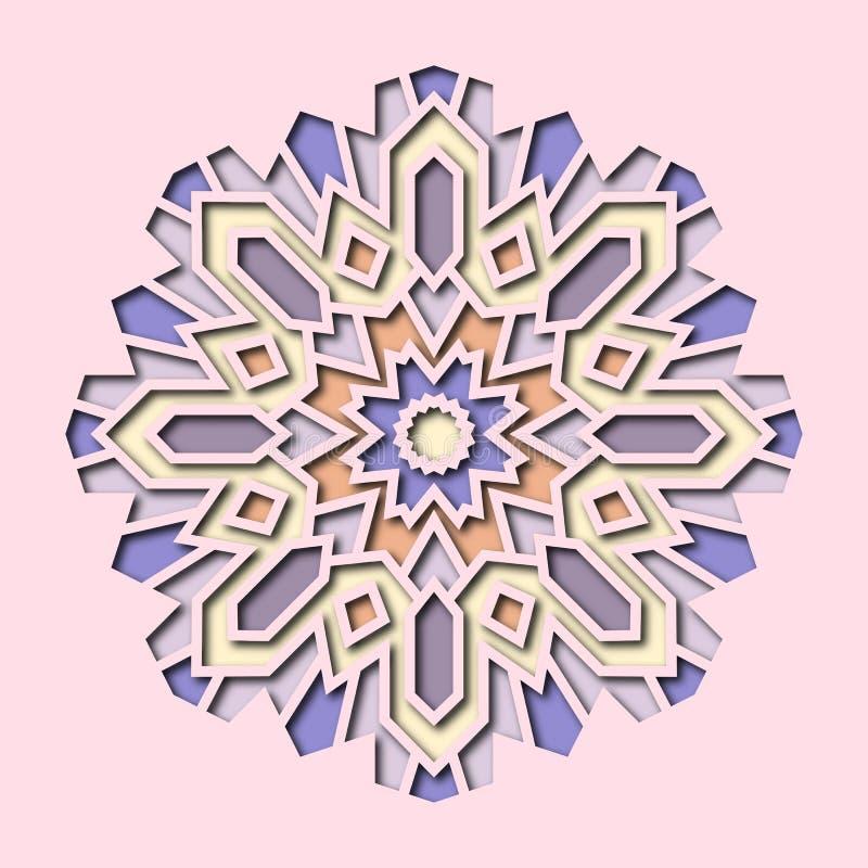 Inbjudan kort med etniska arabesquebeståndsdelar i orientalisk stil Arabesquedesign Affärskort, logo 3d vektor illustrationer