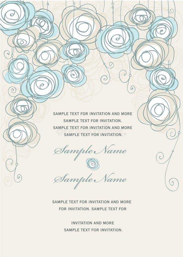 inbjudan panels bröllop stock illustrationer