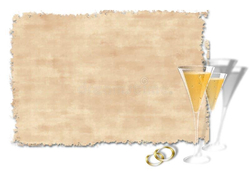 inbjudanbröllop stock illustrationer