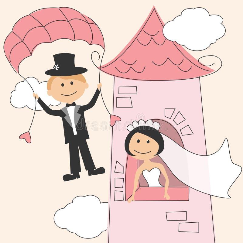inbjudanbröllop vektor illustrationer