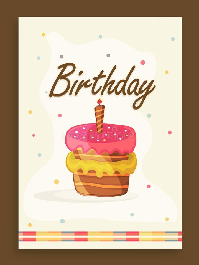 Inbjudankortdesign för födelsedagparti stock illustrationer