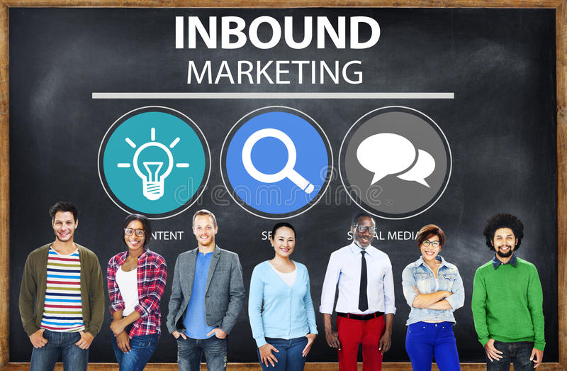 Inbound Marketing Commerce Content Social Media Concept.  royalty free stock photography