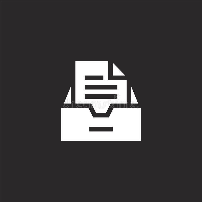 inbox εικονίδιο Γεμισμένο inbox εικονίδιο για το σχέδιο ιστοχώρου και κινητός, app ανάπτυξη inbox εικονίδιο από τη γεμισμένη συλλ διανυσματική απεικόνιση