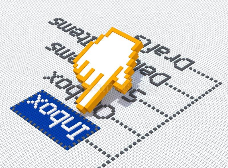 Inbox vektor illustrationer
